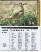 U.A.E. - Bird, Cream-coloured Courser, Etisalat Prepaid Card Dhs 30(reverse 5), Used