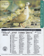 U.A.E. - Bird, Collared Dove, Etisalat Prepaid Card Dhs 30(reverse 5), Used