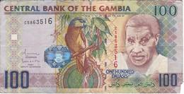 BILLETE DE GAMBIA DE 100 DALASIS DEL AÑO 2010   (BANKNOTE) BIRD-PAJARO-LORO-PARROT - Gambia