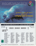 U.A.E. - Let Dugongs Support Our Ecosystem, Etisalat Prepaid Card Dhs 30(reverse 3), Used