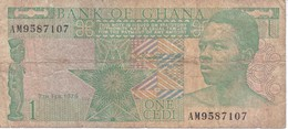 BILLETE DE GHANA DE 1 CEDI DEL AÑO 1979 (BANKNOTE-BANK NOTE) - Ghana
