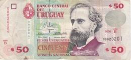 BILLETE DE URUGUAY DE 50 PESOS DEL AÑO 2000 (BANKNOTE) - Uruguay