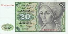 BILLETE DE ALEMANIA DE 20 MARCK DEL AÑO 1980 EN CALIDAD EBC (XF)   (BANKNOTE) - 20 Deutsche Mark