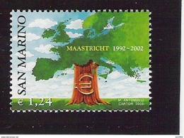 2002 San Marino Mi 2022 **MNH  10 Jahre Vertrag Von Maastricht - Europese Gedachte