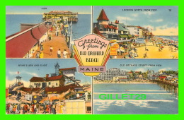 GREETINGS FROM OLD ORCHARD BEACH - 5 MULTIVIEWS - TRAVEL IN 1989 - - Souvenir De...