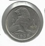 Bélgica_1939__ 1 Franco - 1934-1945: Leopoldo III
