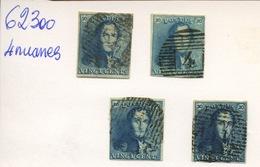 2 De Belgique  Ø  4 Nuances - 1858-1862 Medaillen (9/12)