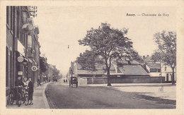 Amay - Chaussée De Huy (animée, Attelage, Delhaize, Pompe à Essence) - Amay