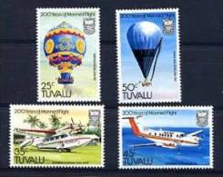 TUVALU 1983, MONTGOLFIERE, AVION, HYDRAVION, BALLON, 4 Valeurs, Neufs. R114 - Luchtballons