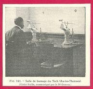 Salle De Humage Du Tech Aix Les Thermes Larousse Médical Illustré 1929 - Vieux Papiers