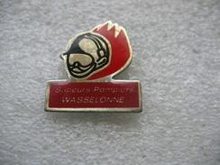 Pin's Des Sapeurs Pompiers De La Ville De WASSELONNE (Dépt 67) - Firemen