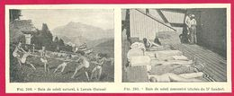 Bain De Soleil à Leysin, Suisse,  Cliché Du Dr Sander,Larousse Médical Illustré 1929 - Vieux Papiers