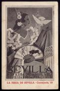 FERIA DE SEVILLA 1952, Postal Con Publicidad Tienda MERCERIA. Poster MEIRELES Postcard Advertising Store ANDALUCIA SPAIN - Sevilla
