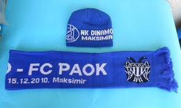 DINAMO : PAOK FC - 2010 UEFA Europa League Football Woolen Scarf & Cap Ultras Soccer Fussball Calcio Thessaloniki Greece - Apparel, Souvenirs & Other