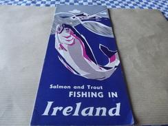 Depliant Salmon And Trout Fishing In Ireland En Irlander - Dépliants Touristiques
