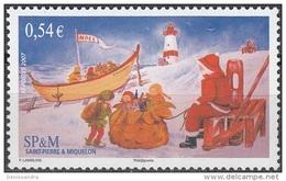 Saint-Pierre & Miquelon 2007 Yvert 910 Neuf ** Cote (2015) 2.20 Euro Noël - Neufs