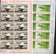 10 Séries 1484/1488  **   Récupération Avec Surcharge   Cote 90 E    Médecine Télécom Football Oiseau Bird - République Démocratique Du Congo (1997 -...)