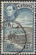 CEYLON 1938  King George VI - 6c Colombo Harbour FU - Ceylon (...-1947)