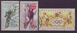CZECHOSLOVAKIA 965-967,used,olimpic Sport