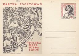 POLOGNE - POLSKA - CP ENTIER POSTAL - POLSKA MAPA NIEBA Z XVI W. -   M K  1473 1543  / 3 - Stamped Stationery