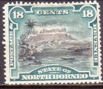 NORTH BORNEO 1894 SG #78 18c MH(heavy Hinge) Perf.14½ CV £28 - North Borneo (...-1963)