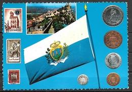 1972 San Marino, Flag, Stamps, Coins, Mailed To Germany - San Marino