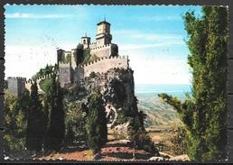 1965 San Marino Castle On Top Of Hill, Mailed To USA - San Marino