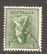 003380 Australia 1956 4d FU No Wmk - 1952-65 Elizabeth II : Pre-Decimals