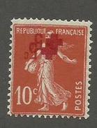 RARE - FRANCE - N°YT 146 NEUF* AVEC CHARNIERE AVEC DOUBLE SURCHARGE INVERSEE - COTE MAURY : 115€ - 1914 - Variétés Et Curiosités