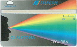 PHONECARDS-- PORTUGAL-OPTICAL--20 U-- GLAUCOMA- CEGUEIRA-- VERY DIFFICULT -- MINT  ISSUE---(< 1.000 ) - Portugal