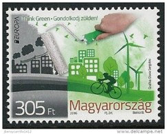 "HUNGRIA/ HUNGARY/ UNGARN/ MAGYAR -  EUROPA 2016 -TEMA ""ECOLOGIA -EL PENSAMIENTO VERDE -THINK GREEN"".- SERIE De 1 V. - 2016"