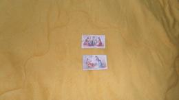LOT DE 2 PETITS CHROMOS ANCIENS DATE ?. / AU PARADIS DES ENFANTS PARIS. / LA QUENOUILLE DE VERRE, RIQUET A LA HOUPE. - Trade Cards