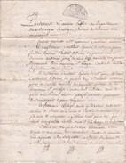 Acte De Vente En 1798 De Coustaud Frères à François Batige De Vélines (24) D'une Pièce De Terre Sise à Montcaret (24) - Documents Historiques