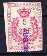 DANEMARK FISCAUX - STEMPELMAERKE 5 ORE ROUGE 11-09-1884 - Fiscali