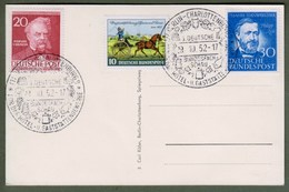 Bund: Sonderkarte Mit Michel-Nr. 160, 161, U. Berlin 97 SST: Bundesfachschau Hotel- Und Gaststättengewerbe 1952. !    X - Covers & Documents