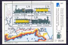 FINLANDE BLOC ET FEUILLET 1987 YT N° BF 3 Obl.