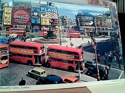 LONDON PICCADILLY CIRCUS TRAM  AUTO CAR  VB1980 STAMP 5 D GC13724 - Piccadilly Circus