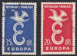 FRANCE Francia Frankreich - 1958 - Serie Completa Due Valori Usati: Yvert 1173/1174, Europa. - France