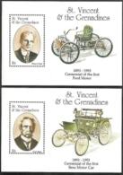 St Vincent - Gren,  Scott 2017 # 1852-1853,  Issued 1993,  S/S Of 2,  MNH,  Cat $ 11.00,  Autos - St.Vincent & Grenadines