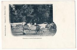 CPA - CAMBODGE - Charettes à Boeufs Cambodgiennes - Cambodge