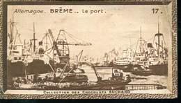 Magnifique Dessin  Vignette En Papier  Pour Chocolat Suchard Numero 17 Breme Le Port 6x10 Cm - Posters