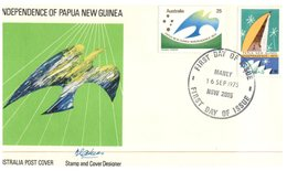 (663) Australian FDC Cover - 1975 - Independence Of Papua New Guinea (3 Covers) - Premiers Jours (FDC)