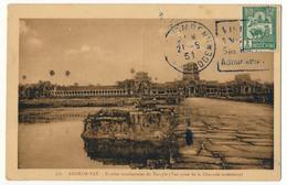 CPA - CAMBODGE - ANGKOR-VAT - Entrées Occidentales Du Temple - Cambodge