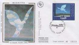 Enveloppe  FDC  1er  Jour   BELGIQUE   Oeuvre  De   René   MAGRITTE   1988 - 1981-90