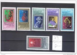 OST1443 ALBANIEN 1973  MICHL 1604/09 ** Postfrisch SIEHE ABBILDUNG - Albania