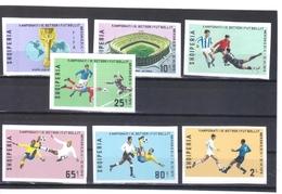 OST1441 ALBANIEN 1970  MICHL 1418/24 B GESCHNITTEN ** Postfrisch SIEHE ABBILDUNG - Albanien