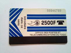 Togo Phonecard 2500 Francs Autelca