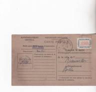 CARTE DE RAVITAILLEMENT DE DRULINGEN  1946 - Drulingen