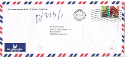 Hong Kong China Airmail 2002 Erhu, Violin Musical Instruments Definitive Stamps Postal History Cover Sent To Pakistan. - Covers & Documents