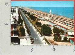 CARTOLINA VG ITALIA - RICCIONE (RN) - Lungomare E Bellissima Spiaggia - 10 X 15 - ANN. 19?? - Rimini